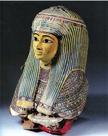 Galerie égyptienne Masque funéraire féminin, époque saïte, XXVIe dynastie, achat